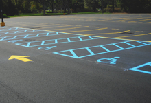 Asphalt Line Striping - Precision Striping & Sealcoating - call (908) 362-5414 - New Jersey